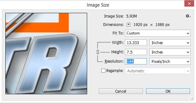 how to change the size of image in photoshop